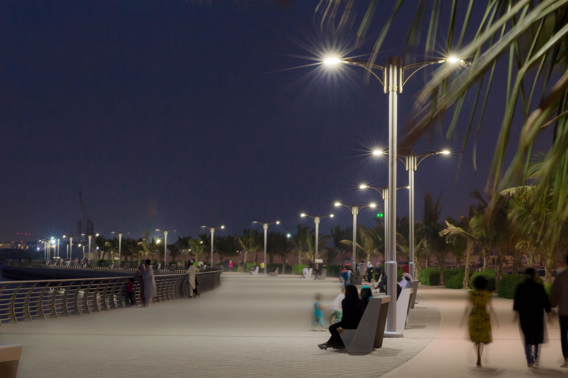Teceo lights up Ajman Corniche ensuring a safe and pleasant outdoor space at night
